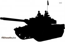 Army Tank Silhouette Image