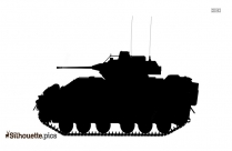 Real Army Tank Silhouette Vector