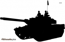 Army Tank Weapon Silhouette Clipart Image