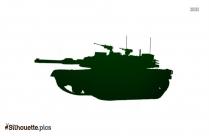 Military Tank Silhouette Art Image
