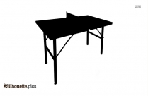 Teak Table Vector Silhouette