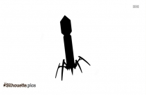 Mining Drill Cartoon Silhouette