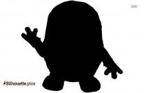 Black Minions Banana Silhouette Image