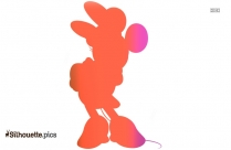 Cartoon Princess Ariel Silhouette