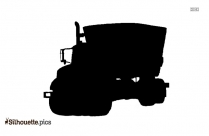 Mixer Truck Silhouette Drawing