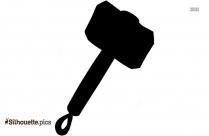 Mjolnir Hammer Silhouette Image