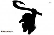 Ice Age Elephant Cartoon Silhouette