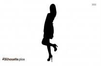 Girl Holding Heart Symbol Silhouette