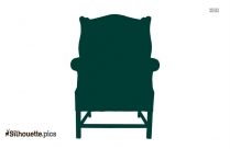 Wing Chair Silhouette Drawing