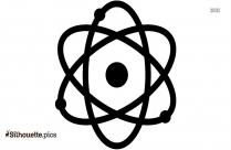 Molecule Bond Silhouette, Vector