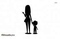 Mom And Child Family Silhouette For Download