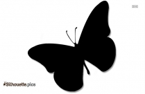 Cartoon Female Butterfly Silhouette Drawing