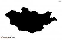 Monaco Map Silhouette Vector