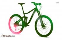 Mountain Bike Silhouette Vector