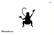 Spider Monkey Clip Art Silhouette