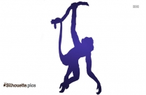 Hanging Monkey Cartoon Clipart Silhouette