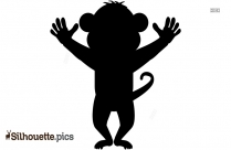 Cute Cartoon Baby Elephant Silhouette