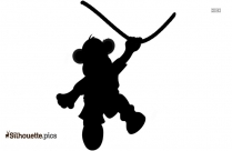 Hanging Monkey Silhouette Clipart