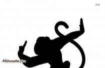 Monkey Kung Fu Panda Silhouette