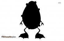 Monster Clip Art Black And White Silhouette