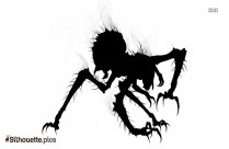 Monster Drawing Silhouette Free Vector Art
