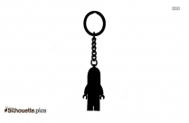 Monster Keychain Silhouette