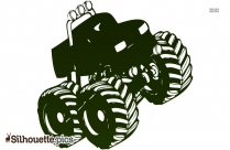 Monster Truck Silhouette Vector And Graphics