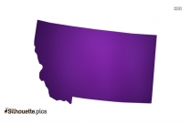 Montana Silhouette Art, American State Map Clipart