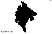 Mongolia Map Silhouette Art