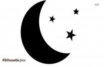 Moon And Star Silhouette Icon