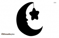 Moon And Star Silhouette Illustration Pic