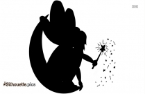 Moon Fairy Silhouette Image