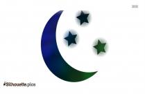 Moon Star Silhouette
