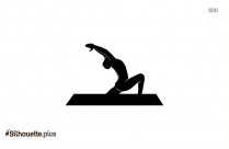 5 Warrior Pose Silhouette Vector