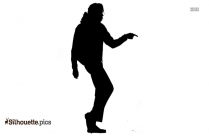 Girl Dancing Silhouette Free Vector Art, Dance Pose Black And White Clipart