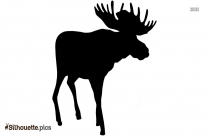 Moose Cartoon Silhouette Image