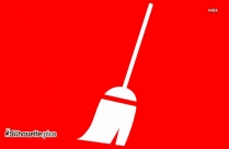 Mop Silhouette Clip Art, Cleaning Tools Vector Image