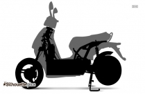 Electric Scooter Silhouette Picture