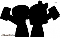 Mormon Cartoon Silhouette