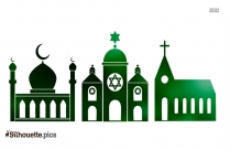 Synagogue Silhouette, Synagogue Clip Art Image