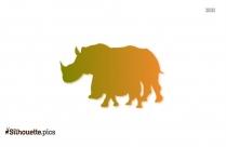 Baby Rhino Silhouette