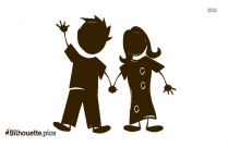 Mother And Father Silhouette Free Vector Art