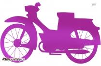 Motor Bike Clip Art Silhouette