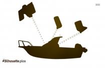Triton Bass Boat Silhouette Clipart