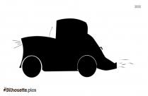 Cartoon Old Car Silhouette Clip Art