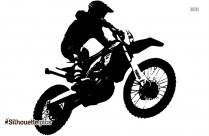 Cartoon Dirt Racer Silhouette