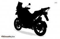 Motorbike Silhouette Free Vector Art