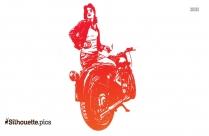 Suzuki Scooters Silhouette Illustration