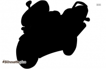 Motorcycle Clip Art Black And White Silhouette