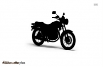 Black And White Royal Enfield Thunderbird Silhouette